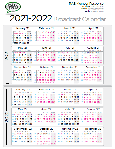 Downloadable Broadcast Calendar 2021 | Printable March